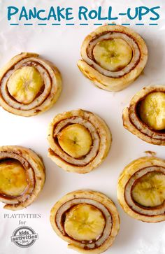 Delicious pancake roll-ups recipe that kids love!