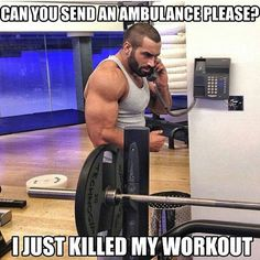 Killing workouts and taking full responsibility for it #fitness meme