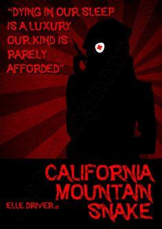 Kill Bill Wall Art (California Mountain Snake)