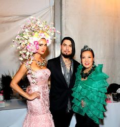 With Katie Cleary and Dave Navarro