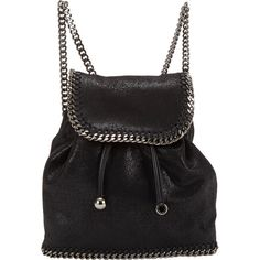 Stella McCartney Falabella Shaggy Deer Mini-Rucksack (1,370 CAD) ❤ liked on Polyvore featuring bags, backpacks, bolsos, black, backpacks bags, flap bag, black mini backpack, rucksack bag and miniature backpack