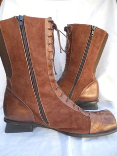 Vintage Jan Jansen Lace Up Brown Leather Boots Size by funkhouse, $39.00