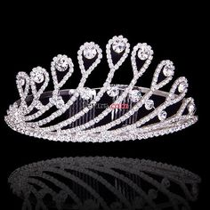 2012 Swarovski Cyrstal peacock tail prom large Tiaras Crown for Wedding