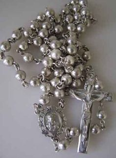Vintage Sterling Silver Rosary