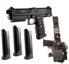 Amazon.com : Tippmann TPX Paintball Pistol Starter Kit - Black : Paintball Guns : Sports & Outdoors Rifles, Paintball Gear, Pistol Holster, Concept Weapons, Air Rifle, Airsoft Guns, Self Defense, Starter Kit, Firearms