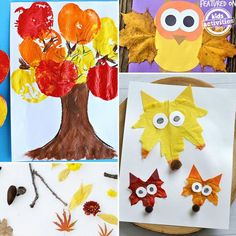 We love these 24 Super Fun Preschool Fall Crafts and we think your kids will too! We're big into kids fall crafts and love creating with our little ones. So grab your crafting supplies (and maybe some natural elements too) and lets get started! Autumn Crafts, Fall Crafts For Kids, Thanksgiving Crafts, Summer Crafts, Toddler Crafts, Holiday Crafts, Holiday Ideas, Preschool Art Projects, Preschool Art Activities