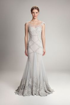 This'd make such a gorgeous winter wedding dress.