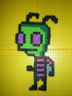 Invader Zim perler beads by tylerbinghamartwork