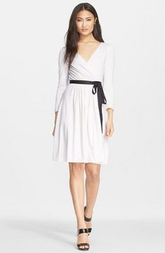 Diane von Furstenberg 'Seduction' Wool Wrap Dress available at #Nordstrom