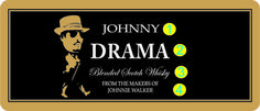 Personalized Whisky Gold Labels (Johnny Walker Drama) - Personalized Liquor Labels