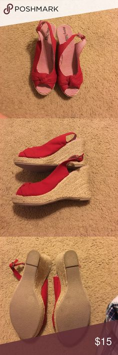 Wedge heels Cute red sling back pumps, great for summer Charming Charlie Shoes Wedges