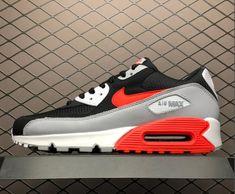 "size 40 e4265 ba4f1 Nike Air Max 90 ""Infrared"" Wolf Grey Black White Bright Crimson AJ1285-012"
