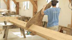 In the Carpenter Oak workshops Oak Framed Buildings, Conservatory, Carpenter, This Is Us, Film, Wood, Crafts, House, Movies