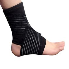 SAGUARO 1 Pair Elastic Ankle Foot Compression Wrap Strap Support Bandage Brace Protective Gear Guard for Outdoor Sports Gym Volleyball Basketball *** More info could be found at the image url.Note:It is affiliate link to Amazon.