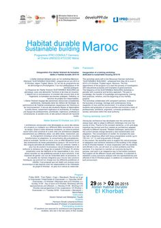Workshop AIHD Habitat durable / territoires vernaculaires - Morocco 2015/16 Second circular - Par Tayyibi A. https://www.facebook.com/ArchitectureMaroc/posts/10202845153930157:0