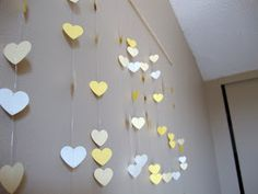 TWO CUPS OF HAPPY: DIY Paper Heart Headboard