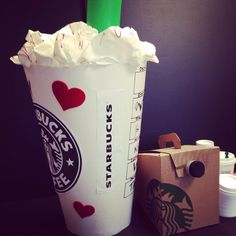 DIY Valentines Box   Starbucks Coffee   Valentine Box   32 Inches High, 14  Inches