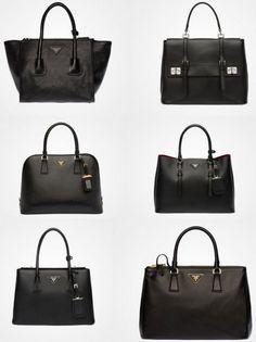 Borse nere Prada e Gucci inverno 2015: Foto e Prezzi