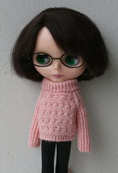 Blythe sweater Pink handknitted sweater for от VolnaDollsClother
