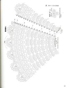 vintage crochet lampshade More Más Crochet Stitches Chart, Crochet Diagram, Thread Crochet, Crochet Motif, Crochet Doilies, Crochet Lace, Crochet Patterns, Crochet Hood, Crochet Collar