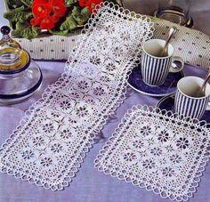Patrón #1774: Camino de mesa a Crochet #crochet  http://blgs.co/TE5K28