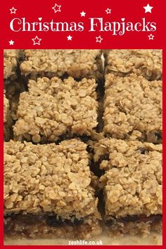 We& given our popular flapjack sandwich recipe a festive makeover with these scrumptious Christmas Mincemeat Flapjacks. Sandwich tasty mincemeat between a simple flapjack mixture to easily create a fabulous alternative to traditional mince pies. Tray Bake Recipes, Gourmet Recipes, Sweet Recipes, Baking Recipes, Dessert Recipes, Xmas Food, Christmas Cooking, Christmas Desserts, Christmas Treats