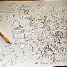 Psssst...psssst...psssst... Just sketching some crud. #cheo #sketch