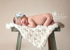 Cream Posing Blanket- Photography Prop- Newborn Swaddle Blanket- Fine Superwash Merino- Knit Blanket- Newborn via Etsy