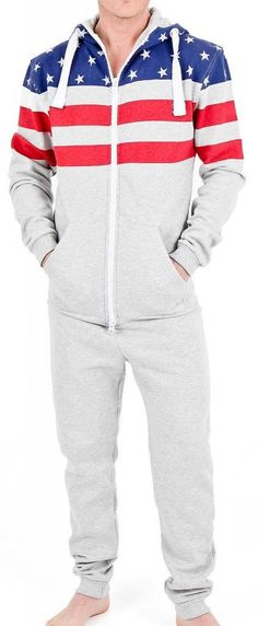 80ed2a63efa3c SkylineWears Men's Fashion Onesie Hooded Jumpsuit One Piece non Footed  Pajamas Bodysuit Playsuit One Piece Man