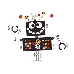 robot tattoo by tattly