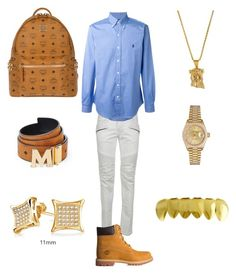 """""""Classy Vibez """" by chiefkeefsosaa on Polyvore featuring Balmain, Polo Ralph Lauren, Timberland, Rolex, MCM, Bling Jewelry, men's fashion and menswear"""