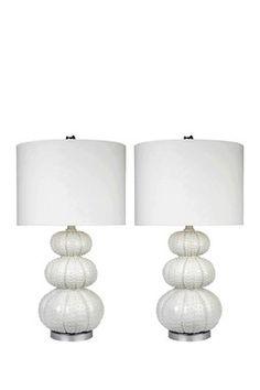 Morin Stacked Sea Urchin Lamp - Set of 2