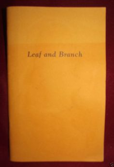 #Leaf and Branch #Poetry #Book Signed First Limited Edition #Partners #Press 1984.
