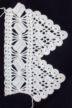 Ravelry: beautiful edging. Spartan Lace pattern by A.M. Free pattern.