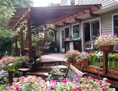 Finally A Way To Attach Pergola Our House W Out Taking Away