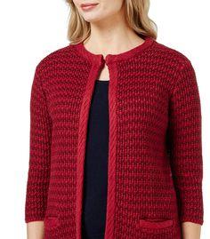 Linen blend knitted jacket