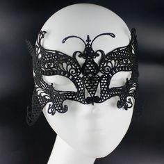 Lace mask, Black Venise Lace Mask, Masquerade Mask, Gothic mask, LM-21-BL