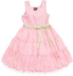 Pink & Violet Little Girls' Lace-Detail Dress on shopstyle.com