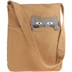 Look What the Cat Bagged In Tote in Buddy ($40) ❤ liked on Polyvore featuring bags, handbags, tote bags, purses, accessories, bolsas, cat, tan, kawaii and print with animals