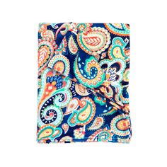 Personalized Emerson Navy Paisley Throw Blanket