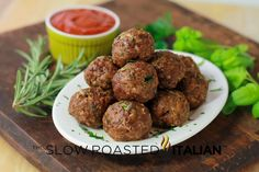 Italian Herb Baked Meatballs and a Wagyu Beef Giveaway
