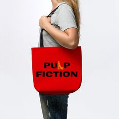 Last Minutes Sales! $16 Pulp Fiction Tote bag!  #bag #totebag #cinema #movies #pulpfiction #pulpfictiontotebag #sales #save #discount #giftsforher #gifts #family #style #onlineshopping #online #pinterest #shopping