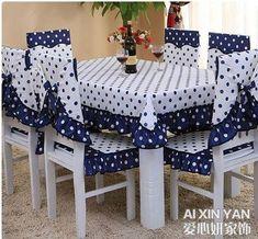 forros de sillas y mantel #decoraciondecocinasmanualidades