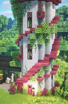 Capas Minecraft, Minecraft Mansion, Minecraft Cottage, Cute Minecraft Houses, Minecraft House Tutorials, Minecraft Castle, Minecraft House Designs, Amazing Minecraft, Minecraft Tutorial
