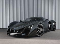 Black Marussia B2. Russia's first ultimate supercar