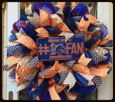 A personal favorite from my Etsy shop https://www.etsy.com/listing/194293572/bsu-broncos-wreath-boise-state-broncos