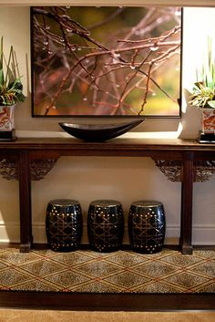 Newport Beach Condo asian living room