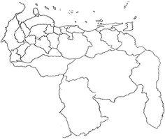 mapa de venezuela en blanco