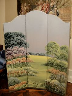 Artisan Ann Brown Ridges Handpainted Screen OOAK | eBay