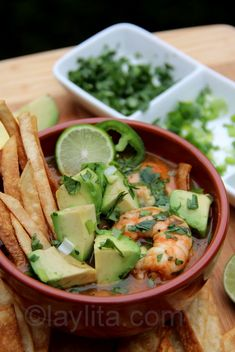 Sopa de tortilla con camaron or shrimp tortilla soup